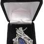 Rainbow Moonstone Pendant with Herkimer Diamonds in Sterling Silver. Heather Jordan Jewelry