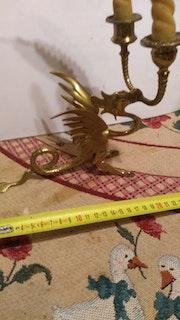 Chandelier bronze dragon. Danielle Ferrand