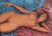 Danielle portrait érotique peinture. Delatour