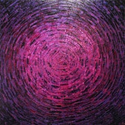 Painting with a knife : Shine of pink purple shine..