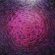 Malen mit einem Messer : Pink lila Glanz..