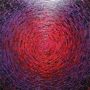 Messermalerei : Leuchtend purpurrot..
