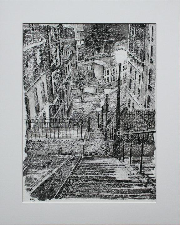 Escalier à Montmartre. Jean-Michel Legras Jeanmidijeanmi