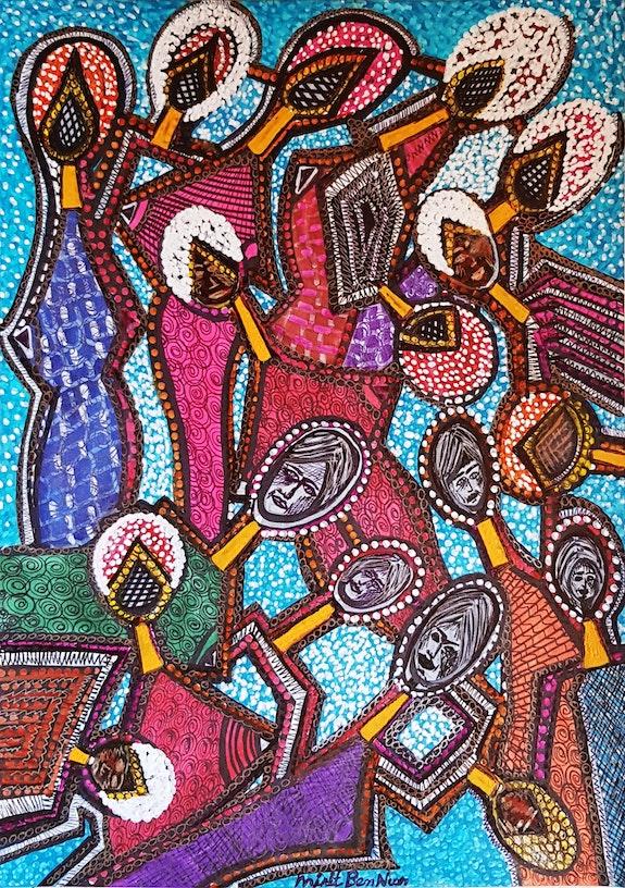 People modern expresive painters in Israel. Mirit Ben-Nun Mirit Ben-Nun