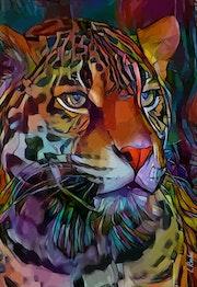 Hermond, leopard on panel.