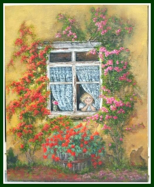 Fillette à la fenêtre. So Rémy So Rémy