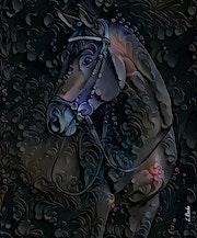 Monture premium - Horse on panel - 70x58 cm.