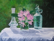 Still life glass and flowers. Jacek