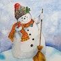 Bonhomme de neige. Lafleurquipousse
