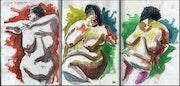 Figura Serpentinata Triptych. Draftsman
