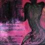 En rose et noir. Sylvie Leandre