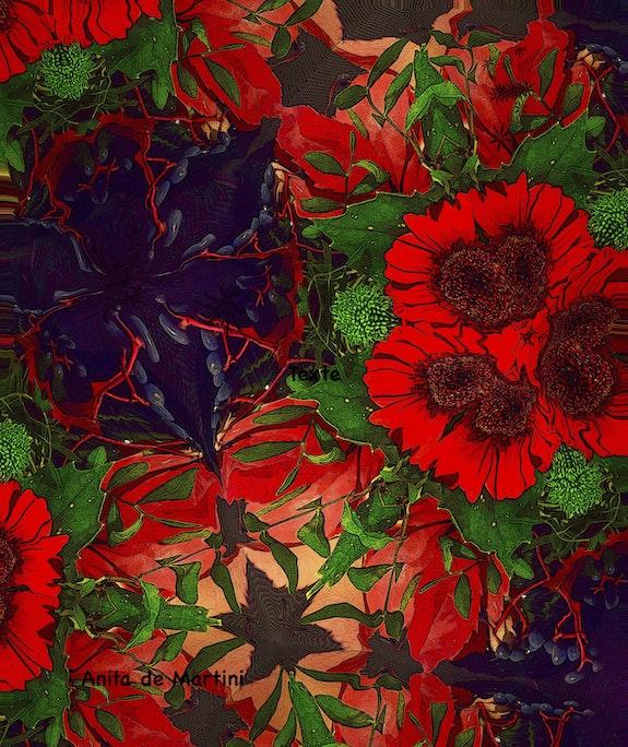 Composition florale abstraite. Anita De Martini Anita De Martini