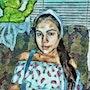 La Caperucita en azul (pintura digital). Reinaldo De La Caridad Aguiar Manso