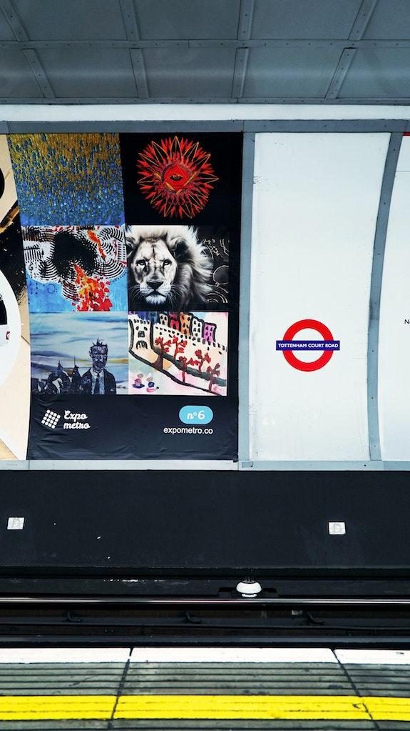 Affiche 6 - Expo Métro London 2019.  Artquid Team