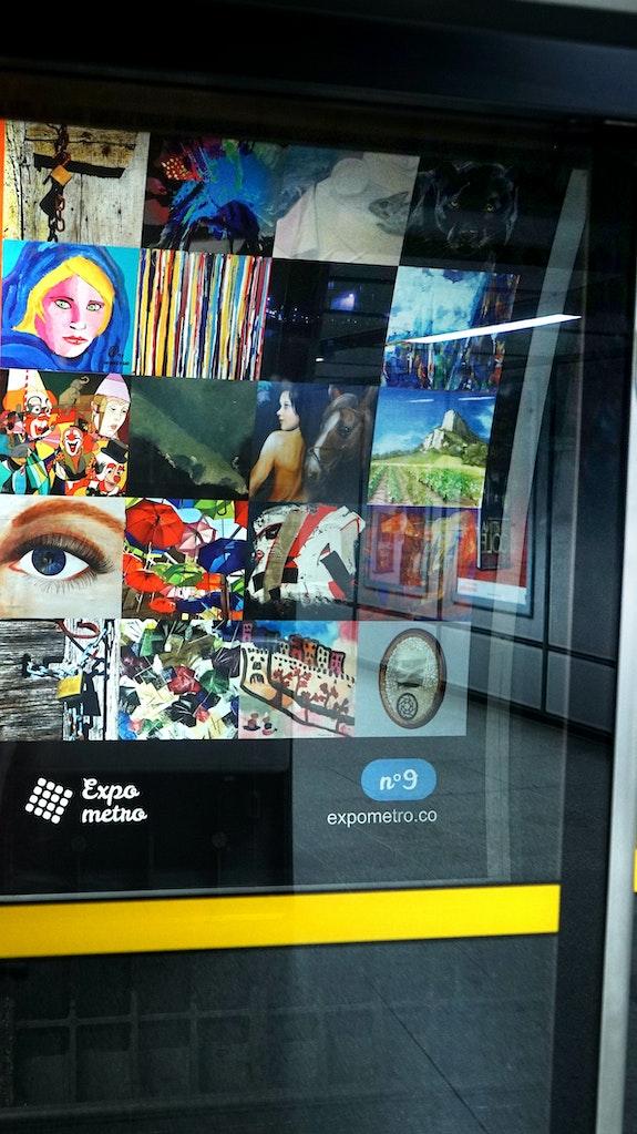 Affiche 9 - Expo Métro London 2019.  Artquid Team