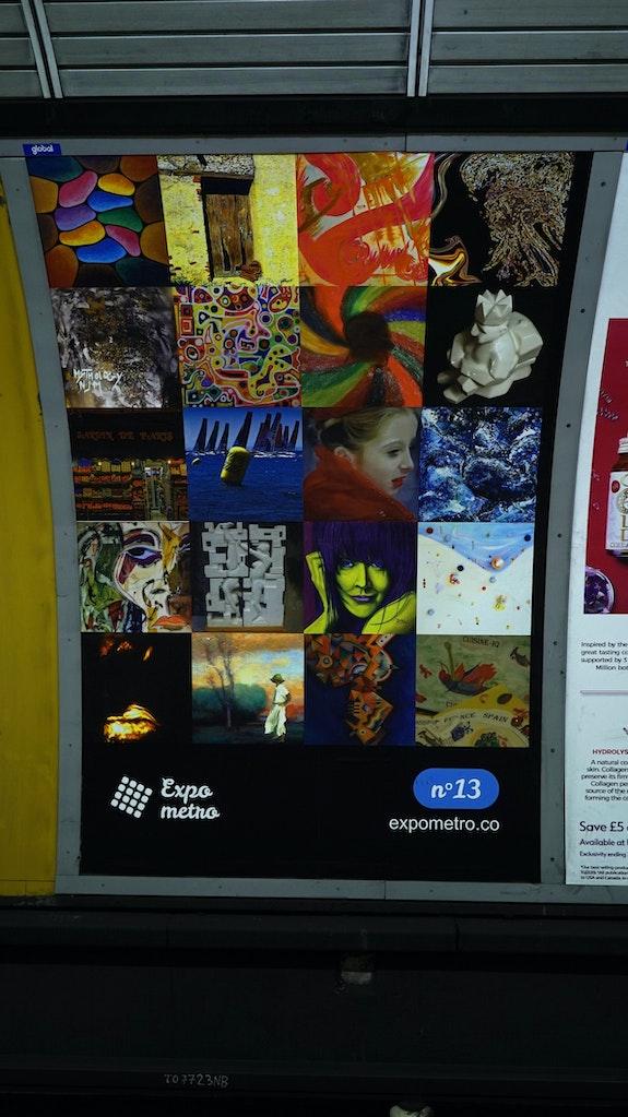 Affiche 13 - Expo Métro London 2019.  Artquid Team