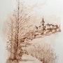 Village de Dordogne. Michèle Buchet