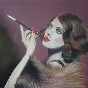 La belle au fume-cigarette.