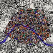 Map of Paris by Marie Antoinette rix.