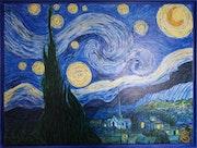 Etude nuit étoilée d'après Van Gogh.