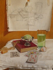 Still life with pearls and cards. Jacek