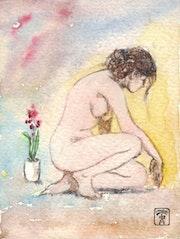 Étude à l'aquarelle (miniature). Serge Mogère
