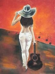La texane à la guitare !. Anny Burtscher-Beaudoin