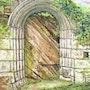 Mémoire perdue (porte médiévale à Locronan (Finistère). Claude Evrard