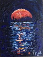 «Coucher de lune rouge ii», 2019.
