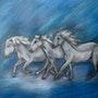 Pferde Blau, kreide. Rita. Huettmanngmx. De