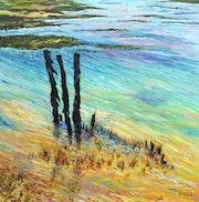 Basses eaux (Sud Espagne-région de Cadix). Claude Evrard