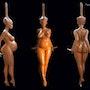 Sculpture femme. Pascal Faviez
