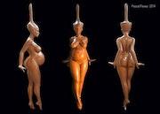 Sculpture femme.