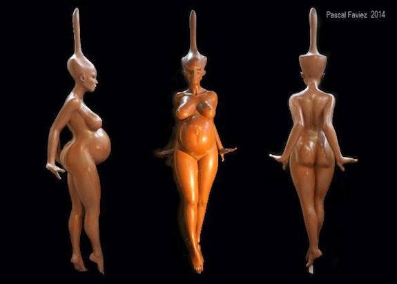 Sculpture femme. Pascal Faviez Pascal Faviez