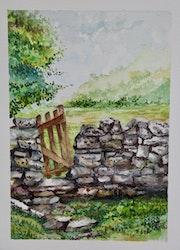 Le mur de pierres.