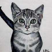 «Le chaton de Jasmin» - «La gatita de Jasmine».