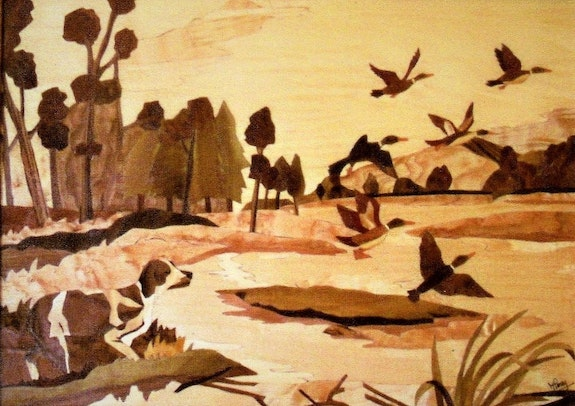 Les canards sauvages. Martine Perry Martine Perry