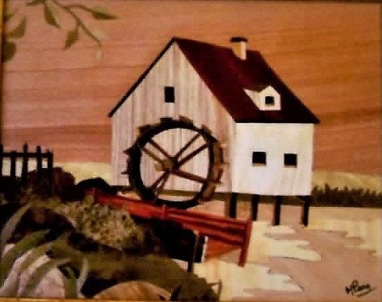 Le moulin à eau. Martine Perry Martine Perry