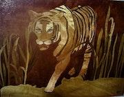Le tigre dans la savane. Martine Perry
