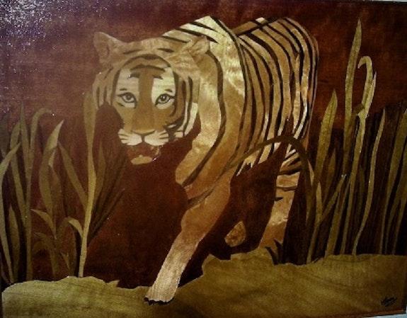 Le tigre dans la savane. Martine Perry Martine Perry
