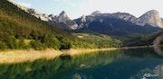 Balade sur le lac du Sautet.