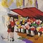 Le marché aux fleurs. Michèle Devinante