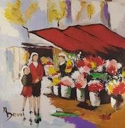 Le marché aux fleurs.