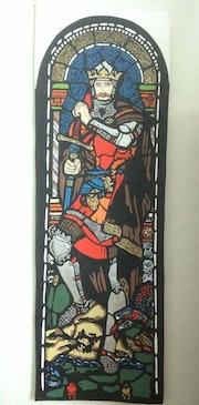 Le roi Robert le Bruce d'Écosse, entièrement doublé medievale.