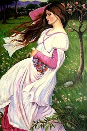 Windblumen (nach J. W. Waterhouse). Grazyna Federico