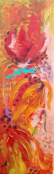 «Silky Footprint», acrylic on canvas.