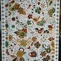 Peinture à motif floral. Manadraw