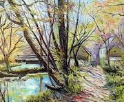 Le moulin neuf (Le chemin des peintres à Pont-aven (Bretagne-France).