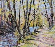 Cheminement printanier (entre l'Aven et le Bois d'Amour à Pont-Aven).