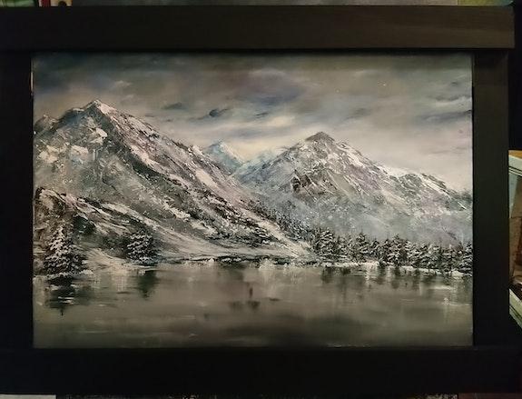 Montagnes sous la neige. Dequidt Fabienne Dequidt